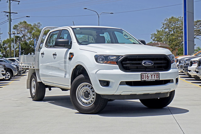 Used Ford Ranger PX MkIII 2019.00MY XL Double Cab, 2018 Ford Ranger PX MkIII 2019.00MY XL Double Cab White 6 Speed Sports Automatic Cab Chassis