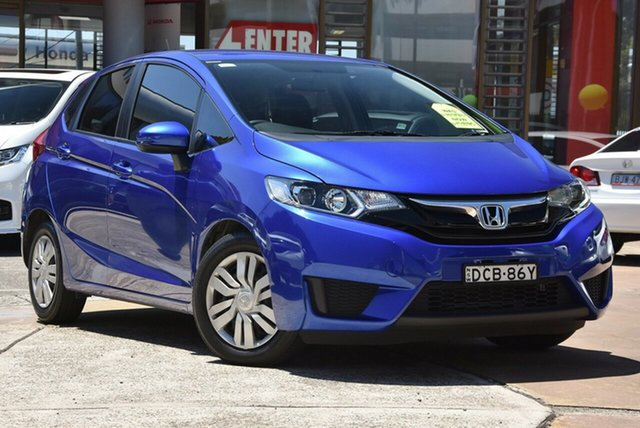 Used Honda Jazz GF MY15 VTi, 2015 Honda Jazz GF MY15 VTi Blue 1 Speed Constant Variable Hatchback