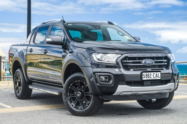 Used Ford Ranger PX MkIII 2019.75MY Wildtrak Pick-up Double Cab, 2019 Ford Ranger PX MkIII Wildtrak Black 10 Speed Sports Automatic Utility