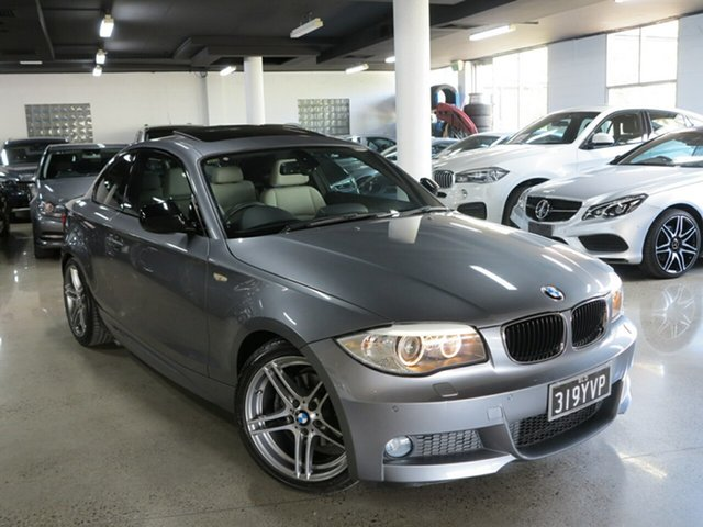 Used BMW 1 Series E82 LCI MY1112 120i Steptronic, 2013 BMW 1 Series E82 LCI MY1112 120i Steptronic Space Grey 6 Speed Sports Automatic Coupe