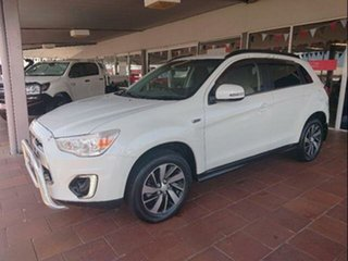 2014 Mitsubishi ASX XB MY15 LS (2WD) White Continuous Variable Wagon