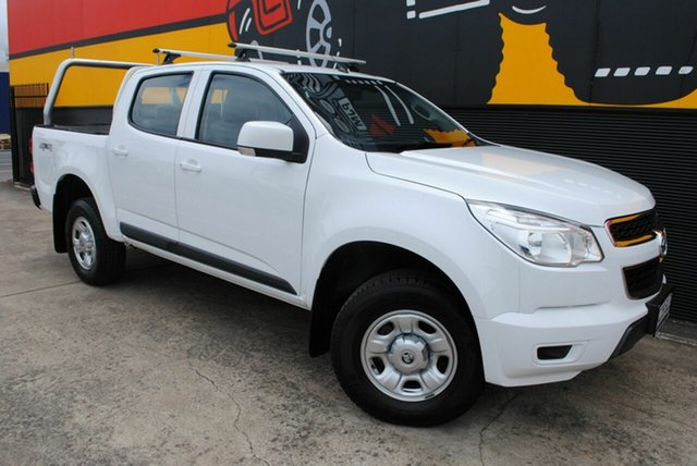 Used Holden Colorado RG MY16 LS Crew Cab, 2016 Holden Colorado RG MY16 LS Crew Cab Summit White 6 Speed Sports Automatic Utility