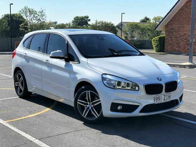 Used BMW 2 Series F45 220i Active Tourer Steptronic Sport Line, 2014 BMW 2 Series F45 220i Active Tourer Steptronic Sport Line White 8 Speed Automatic Hatchback