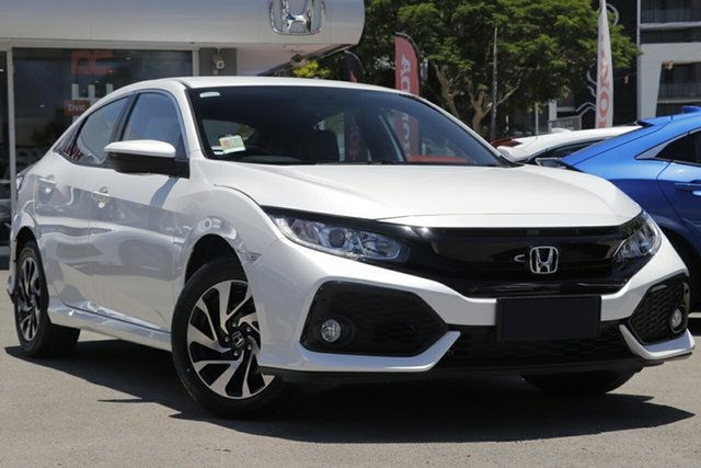 New Honda Civic 10th Gen MY19 +Luxe, 2019 Honda Civic 10th Gen MY19 +Luxe Platinum White 1 Speed Constant Variable Hatchback