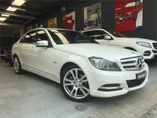 2011 Mercedes-Benz C-Class W204 C250 CDI BlueEFFICIENCY Avantgarde White Sports Automatic Sedan.