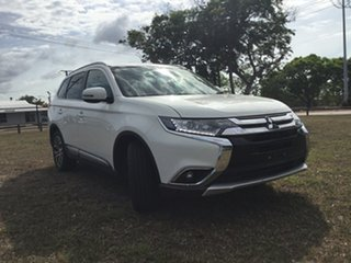 2018 Mitsubishi Outlander ZL MY18.5 LS 7 Seat (2WD) White Continuous Variable Wagon.