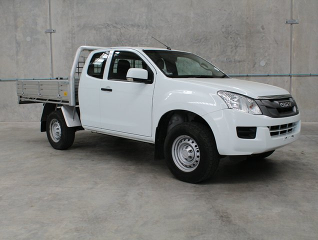 Used Isuzu D-MAX MY15 SX Space Cab, 2015 Isuzu D-MAX MY15 SX Space Cab White 5 speed Automatic Cab Chassis