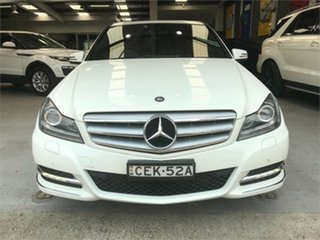 2011 Mercedes-Benz C-Class W204 C250 CGI Avantgarde White Sports Automatic Sedan.
