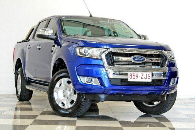 Used Ford Ranger PX MkII MY17 XLT 3.2 (4x4), 2016 Ford Ranger PX MkII MY17 XLT 3.2 (4x4) Blue 6 Speed Automatic Dual Cab Utility