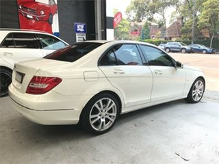2011 Mercedes-Benz C-Class W204 C250 CGI Avantgarde White Sports Automatic Sedan