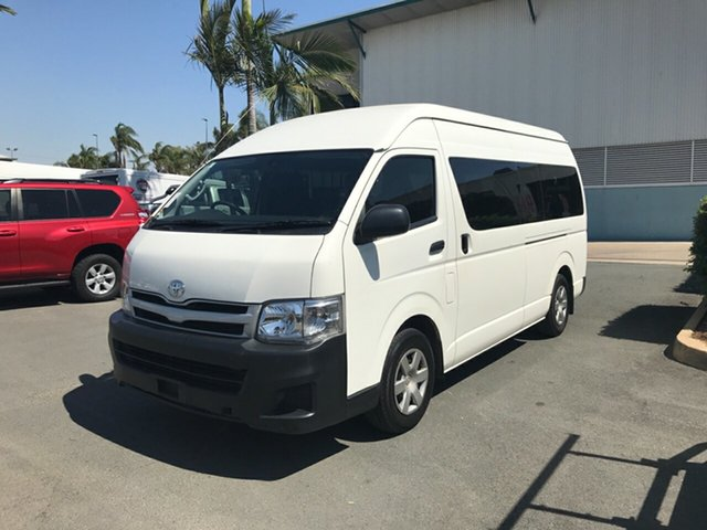 Used Toyota HiAce TRH223R MY12 Commuter High Roof Super LWB, 2013 Toyota HiAce TRH223R MY12 Commuter High Roof Super LWB White 4 speed Automatic Bus