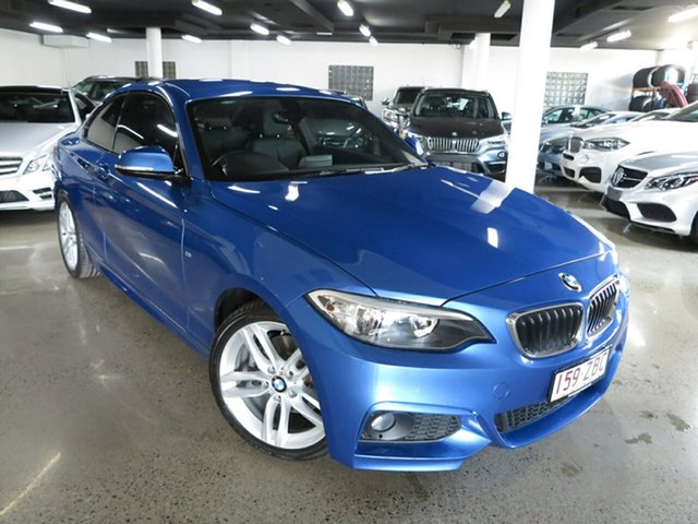 Used BMW 2 Series F22 220d M Sport, 2015 BMW 2 Series F22 220d M Sport Estoril Blue 8 Speed Sports Automatic Coupe