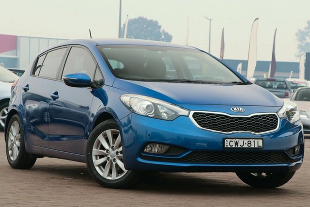 Used Kia Cerato YD MY15 S, 2014 Kia Cerato YD MY15 S Blue 6 Speed Sports Automatic Hatchback