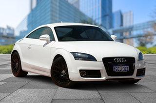 2012 Audi TT 8J MY12 Quattro White 6 Speed Manual Coupe.