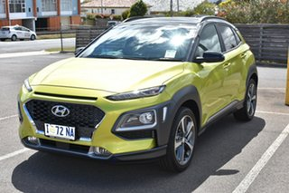 2019 Hyundai Kona OS.3 MY20 Highlander 2WD Acid Yellow & Black Roof 6 Speed Sports Automatic Wagon