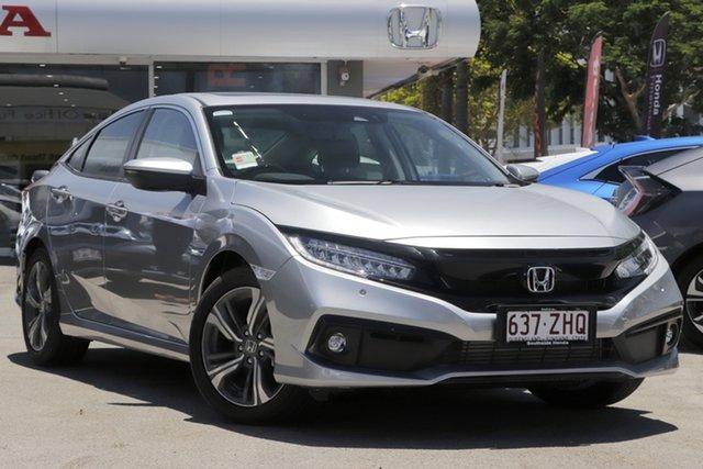Demo Honda Civic 10th Gen MY19 VTi-LX, 2019 Honda Civic 10th Gen MY19 VTi-LX Lunar Silver 1 Speed Constant Variable Sedan