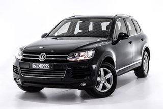 2012 Volkswagen Touareg 7P MY12.5 V6 TDI Tiptronic 4MOTION Black 8 Speed Sports Automatic Wagon.