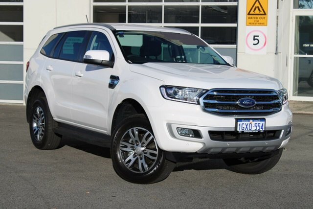 Demo Ford Everest UA II 2019.75MY Trend 4WD, 2019 Ford Everest UA II 2019.75MY Trend 4WD Arctic White 10 Speed Sports Automatic Wagon