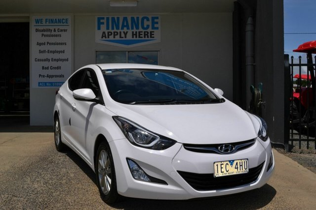 Used Hyundai Elantra MD Series 2 (MD3) Trophy, 2014 Hyundai Elantra MD Series 2 (MD3) Trophy White 6 Speed Automatic Sedan