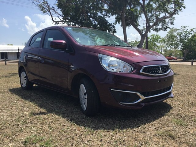 Used Mitsubishi Mirage LA MY16 ES, 2017 Mitsubishi Mirage LA MY16 ES Burgundy Continuous Variable Hatchback
