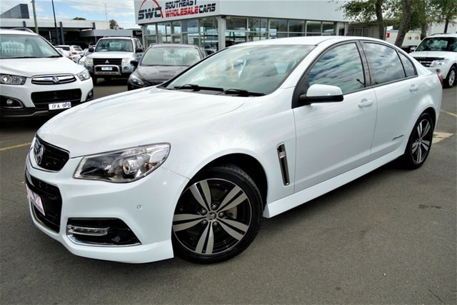 Used Holden Commodore VF MY14 SV6 Storm, 2014 Holden Commodore VF MY14 SV6 Storm White 6 Speed Manual Sedan