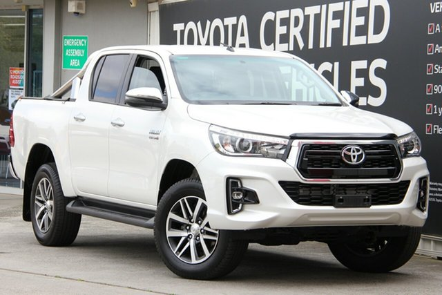 Used Toyota Hilux GUN126R SR5 Double Cab, 2018 Toyota Hilux GUN126R SR5 Double Cab Crystal Pearl 6 Speed Sports Automatic Utility