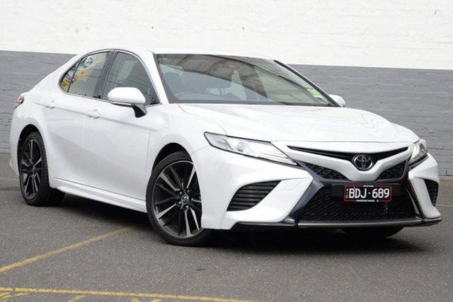 Demo Toyota Camry GSV70R SX, 2019 Toyota Camry GSV70R SX Frosted White 8 Speed Sports Automatic Sedan