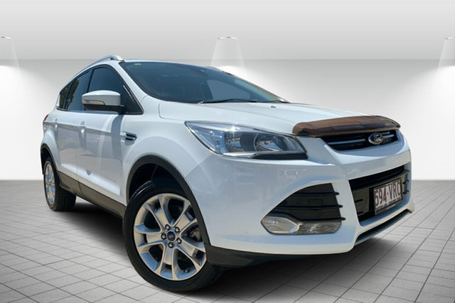 Used Ford Kuga TF Trend PwrShift AWD, 2014 Ford Kuga TF Trend PwrShift AWD White 6 Speed Sports Automatic Dual Clutch Wagon