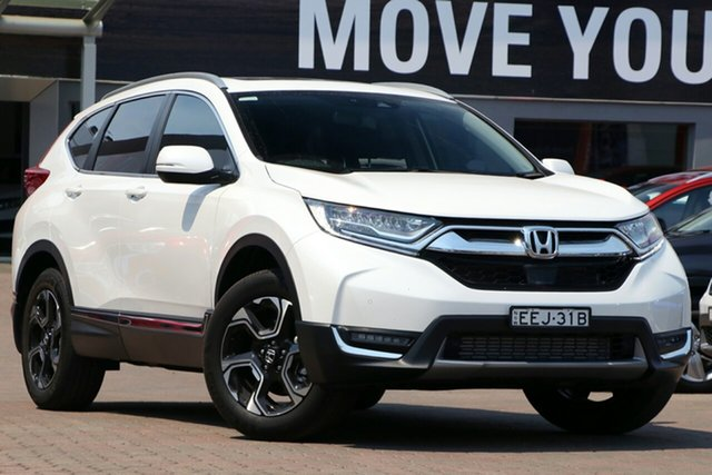 Demo Honda CR-V RW MY19 VTi-LX 4WD, 2019 Honda CR-V RW MY19 VTi-LX 4WD White Orchid 1 Speed Constant Variable Wagon