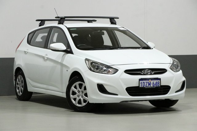 Used Hyundai Accent RB Active, 2012 Hyundai Accent RB Active White 4 Speed Automatic Hatchback