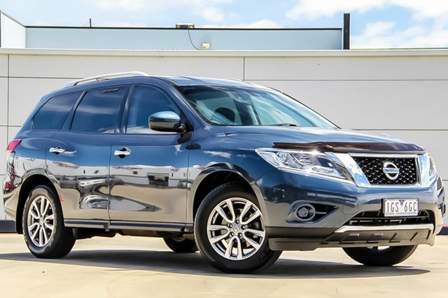 Used Nissan Pathfinder R52 MY15 ST X-tronic 2WD, 2015 Nissan Pathfinder R52 MY15 ST X-tronic 2WD Galaxy Blue 1 Speed Constant Variable Wagon