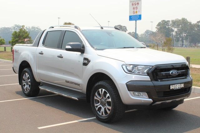 Used Ford Ranger PX MkII Wildtrak Double Cab, 2016 Ford Ranger PX MkII Wildtrak Double Cab Ingot Silver 6 Speed Sports Automatic Utility