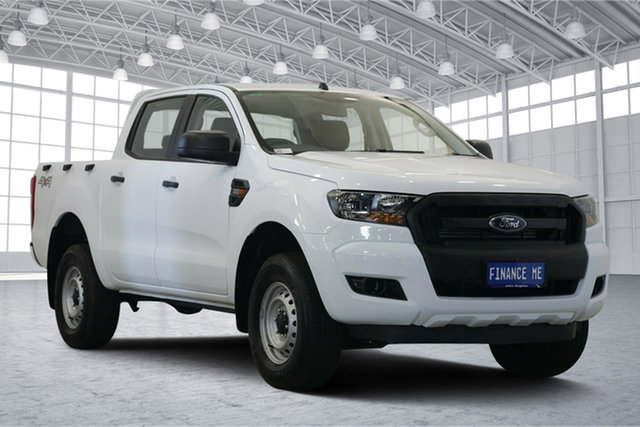 Used Ford Ranger PX MkII 2018.00MY XL Double Cab, 2018 Ford Ranger PX MkII 2018.00MY XL Double Cab Frozen White 6 Speed Manual Cab Chassis
