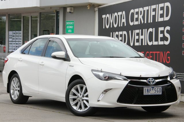 Used Toyota Camry AVV50R Atara S, 2015 Toyota Camry AVV50R Atara S Diamond White 1 Speed Constant Variable Sedan Hybrid