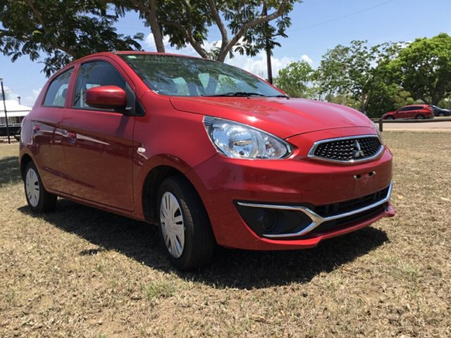 Used Mitsubishi Mirage LA MY16 ES, 2017 Mitsubishi Mirage LA MY16 ES Red Continuous Variable Hatchback