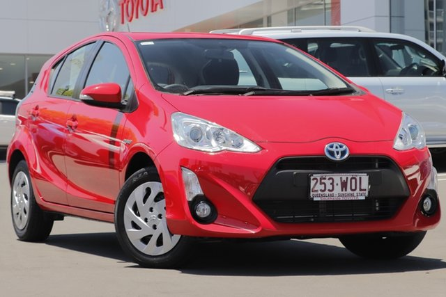 Used Toyota Prius c NHP10R E-CVT, 2016 Toyota Prius c NHP10R E-CVT Red/gry 1 Speed Constant Variable Hatchback Hybrid