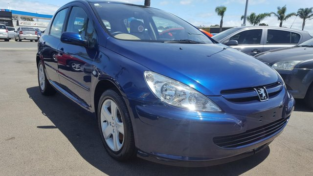 Used Peugeot 307 T5 MY04 XSE Cheltenham, 2004 Peugeot 307 T5 MY04 XSE Blue 5 Speed Manual Hatchback
