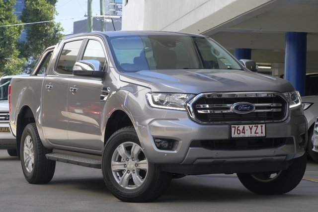 Demo Ford Ranger PX MkIII 2019.75MY XLT Pick-up Double Cab, 2019 Ford Ranger PX MkIII 2019.75MY XLT Pick-up Double Cab Aluminium 10 Speed Sports Automatic