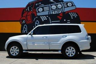 2012 Mitsubishi Pajero NW MY12 Platinum II Pearl White 5 Speed Sports Automatic Wagon