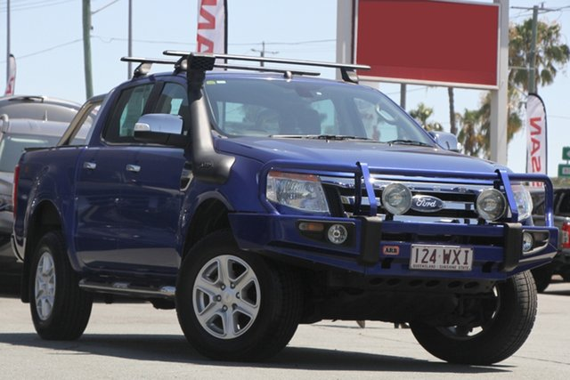 Used Ford Ranger PX XLT Double Cab, 2014 Ford Ranger PX XLT Double Cab Aurora Blue 6 Speed Manual Utility