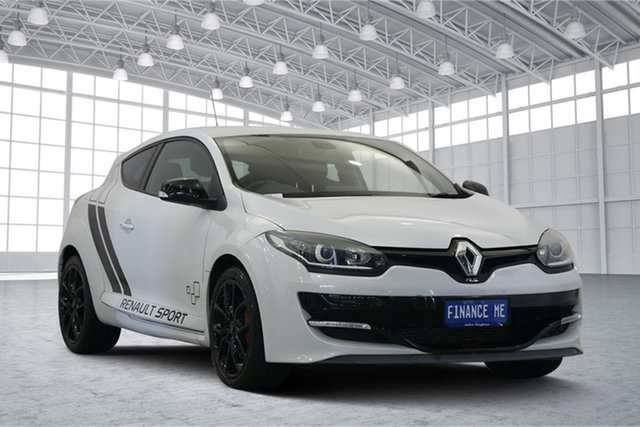 Used Renault Megane III D95 Phase 2 R.S. 265 Cup, 2015 Renault Megane III D95 Phase 2 R.S. 265 Cup White 6 Speed Manual Coupe