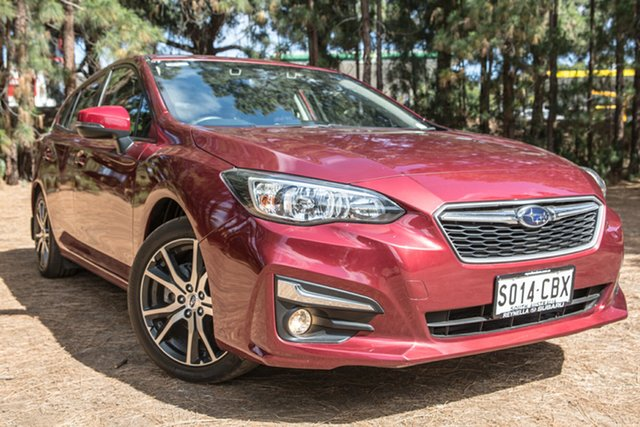 Used Subaru Impreza G5 MY17 2.0i Premium CVT AWD, 2016 Subaru Impreza G5 MY17 2.0i Premium CVT AWD Red 7 Speed Constant Variable Hatchback