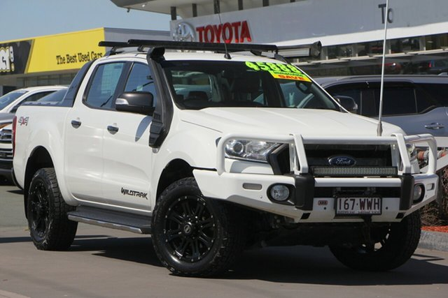 Used Ford Ranger PX MkII Wildtrak Double Cab, 2016 Ford Ranger PX MkII Wildtrak Double Cab Glacier White 6 Speed Sports Automatic Utility