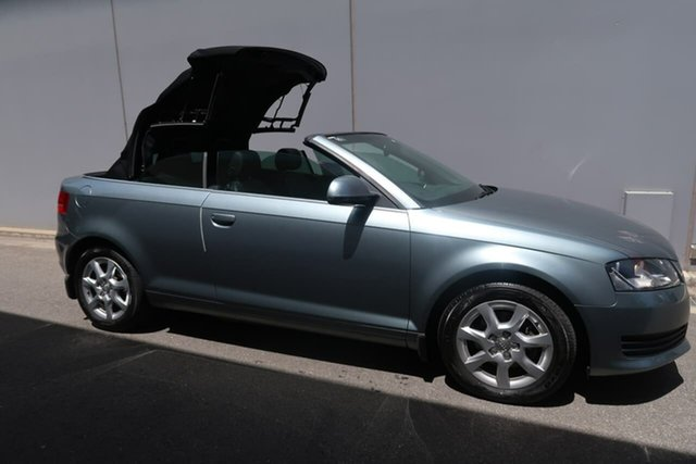 Used Audi A3 8P MY10 TFSI S Tronic Attraction, 2009 Audi A3 8P MY10 TFSI S Tronic Attraction Grey 7 Speed Sports Automatic Dual Clutch Convertible