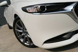 2019 Mazda 3 BP2S7A G20 SKYACTIV-Drive Evolve Snowflake White 6 Speed Sports Automatic Sedan.