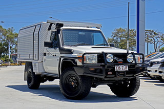 2008 Toyota Landcruiser VDJ79R Workmate Warm White 5 Speed Manual Cab Chassis.