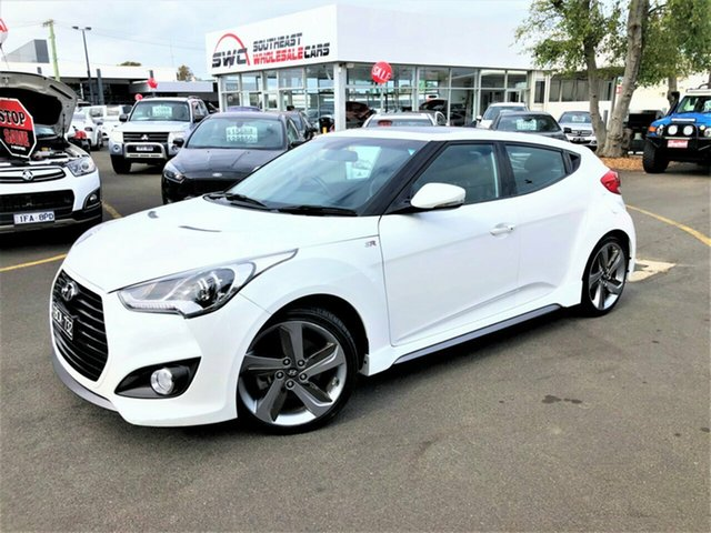 Used Hyundai Veloster FS3 SR Coupe Turbo, 2014 Hyundai Veloster FS3 SR Coupe Turbo White 6 Speed Automatic Hatchback