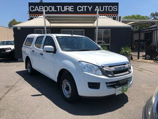 2014 Isuzu D-MAX TF MY15 SX (4x2) White 5 Speed Manual Crew Cab Utility.