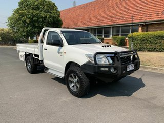 2013 Toyota Hilux KUN26R SR White 5 Speed Manual Single Cab.