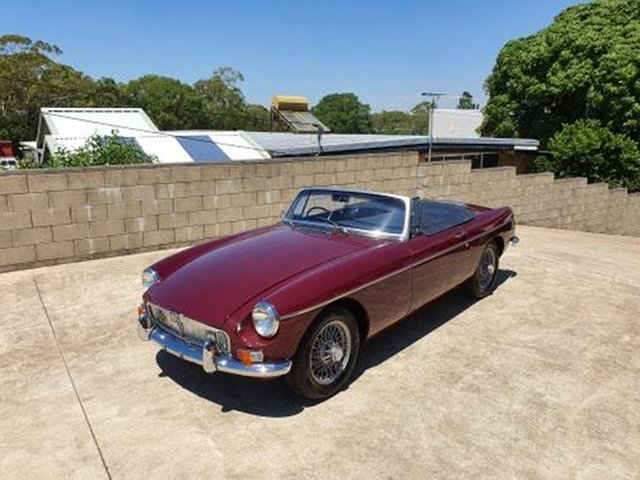 Used MG B Mk II , 1970 MG B Mk II Burgundy 4 Speed Manual + O Roadster
